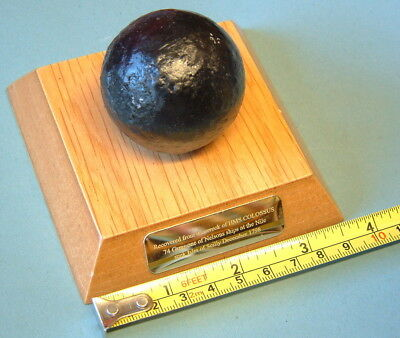 SMALL CANNONBALL  from HMS COLOSSUS shipwreck 1798 One of NELSONS SHIPS