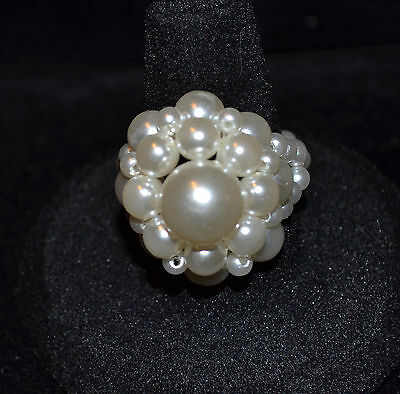 Unbranded - Faux Pearl & Beads Ring - Size 8