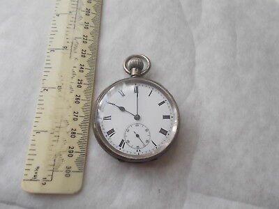 English Silver Pocket Watch. Welsh Presented 1905-1909 Pwyllor Addysg Meirion