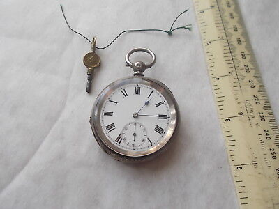 English Silver Key Wind Pocket Watch. London 1978. Working. Vgc