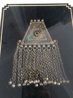Antique Middle Eastern Frame Pendant Tribal Persian Islamic Arabic Old Silver?