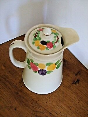 "Ridgways Bedford Ware Hand Painted California Hayward & Co & 6.5"" Lidded Jug Pot"