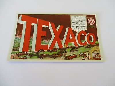 1920's Texaco Oil Adv. Blotter Showing Old Cars