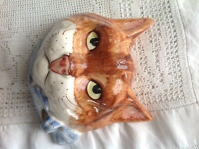 Cat Face String Holder Kitch Retro Babbacome Pottery
