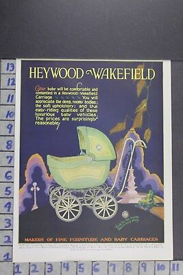 1929 Antique Doll Baby Carriage Heywood Wakefield Co Boston Vintage Ad Ef064