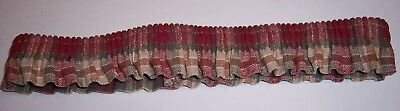 PRE-OWNED Longaberger Orchard Park Plaid MEDIUM GARTER Rare & Retired