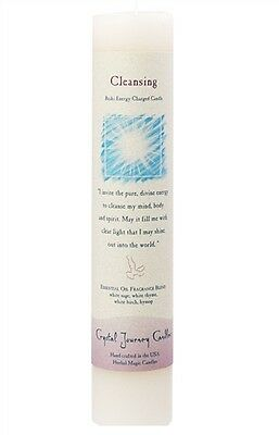 Crystal Journey's CLEANSING Reiki Charged Ritual Pillar Candle!