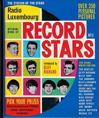"Vintage Book ""Radio Luxembourg Record Stars"" No.3.  Cliff Richard Intro. 1964."