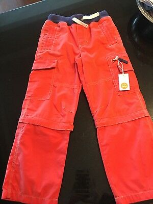Mini Boden Zip Off Pant. Boy Size 7
