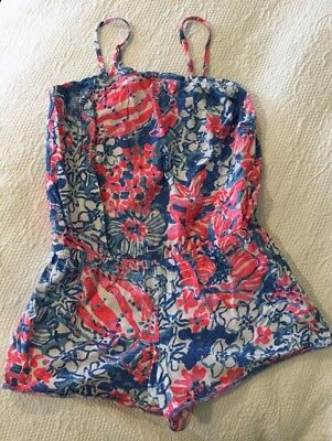 Lilly Pulitzer Girl's Shorts Romper Coverup Size Large 8 - 10