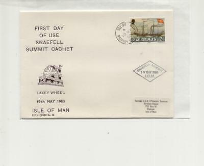 Isle of Man 1980 First day of Snaefell Summit cachet cover