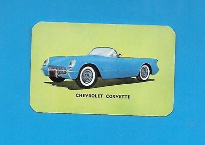 "Chevy Corvette. 1954 Hood ""Cho-Cho"" Ice Cream Bar Non-sport card #13"