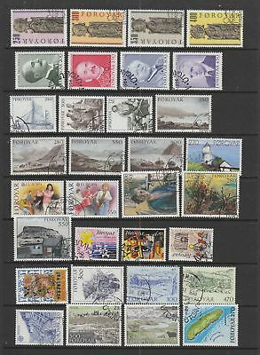 Faroe Islands 1983 - 1988 fine used collection, 56 stamps, 3 souvenir sheets