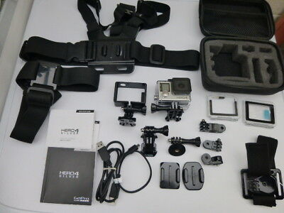 GoPro Hero 4 Silver edition (Touch Screen Model) with accessories