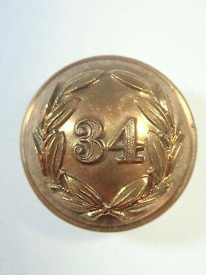 34th (Cumberland) Foot original Large Victorian Officers Button.