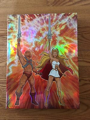RARE He-Man & She-Ra Animated Guide LIMITED EDITION holofoil HARDCOVER variant