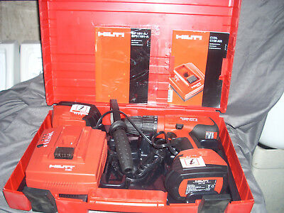 Hilti SFH 181-A Cordless Hammer Drill Kit w/ Hard Case-2 Batteries-1 Charger 18V