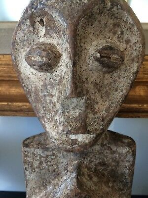 Old African Statue Fetish Figure Tribal Ethnic Zulu Antique Carved Wood Ashanti