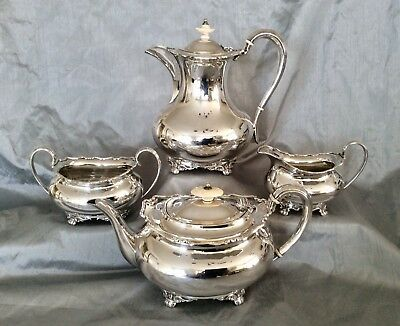 Fine Quality Antique Victorian Silver Plated Footed Teaset ATKIN BROTHERS C1870