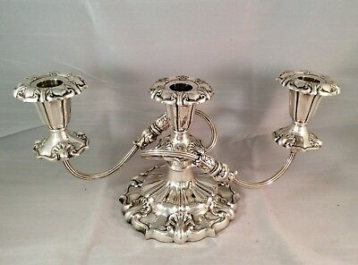 Fabulous Antique Art Nouveau Repousse Silver On Copper Candelabra 1.7 Kg+ C1900