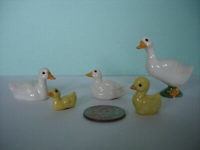 Miniature Lot Ceramic Ducks and Ducklings