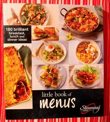 Slimming World Little Book Of Menus / Recipes Newly Released 2018 !