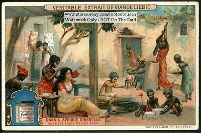 Arab House French Colony Village In East Africa c1905 Trade Ad Card