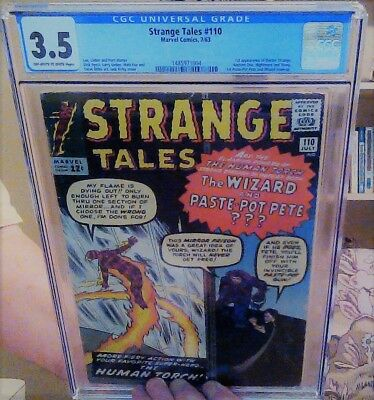 Strange Tales #110 CGC 3.5 ow/w. 1st Doctor Strange, Ancent One, Nightmare, Wong