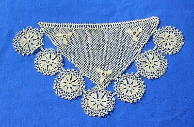Rare Antique  Armenian Needle Knotted Lace  Motif Cuff