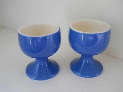 PAIR Moorcroft powder blue goblet egg cups.