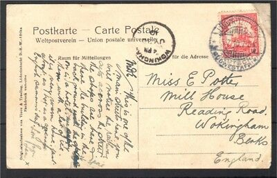 South West Africa 1910 Luderitzbucht  postcard to Berkshire UK