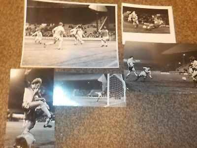 5 STOCKPORT COUNTY 1980's  Original REAL glossy photos.Excellent selection