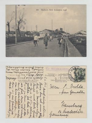 China Old Postcard New Extension Road Hankow Via Peking To Germany 1911 !!