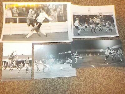 5 STOCKPORT COUNTY 1980's AWAY Matches. Original REAL glossy photos.
