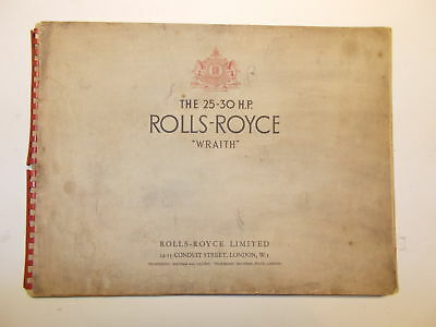1938-38 25-30 HP Rolls-Royce Wraith Sales Advertising Catalog Brochure Pictures