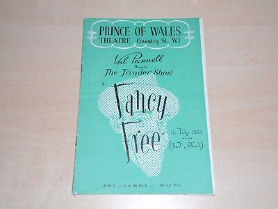 1951 The Prince Of Wales Theatre London Programme Tommy Trinder Show Fancy Free