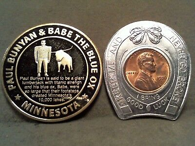 Paul Bunyan - Kenneth Fahnestock  Medal Good Luck Token