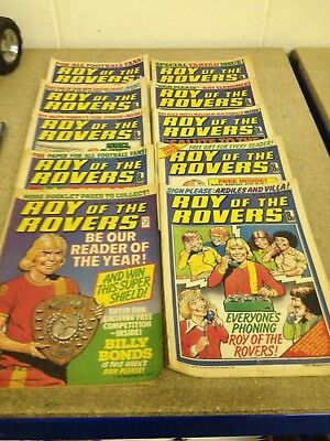 Roy Of The Rovers Comics x10 from 1977/1978 Good Condition