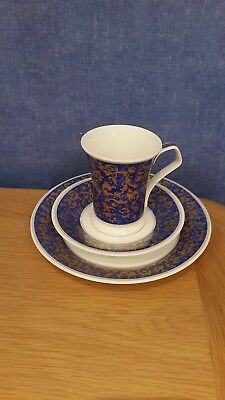 "DUNOON ""Fine Bone China ""Mantua""  Mug ,saucer & plate designed by Cherry Denman"