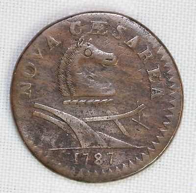 1787 New Jersey Cent  Small Planchet