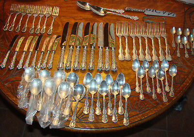68 Pc Roden Birks Louis Xv Sterling Dinner Size Set For 8 No Mono 8 Pcs. Each