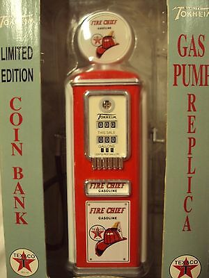 1996 FIRE CHIEF 1950 Limited Ed Gearbox TEXACO GAS PUMP REPLICA Coin Bank 66001