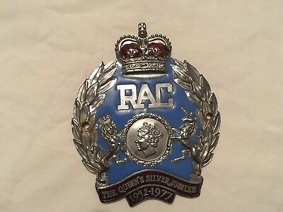 RAC - Queen's Silver Jubilee Car Badge - Limited Edition - Royal Automobile Club