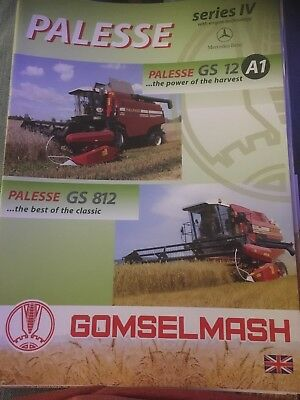 Gomselmash Palesse GS12 GS812 combine tractor brochure rare from Russia