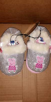 Peppa Pig Toddler Slippers Size 5 6 7 9 10 New!
