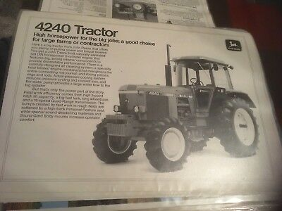 John Deere tractor brochure For 4240