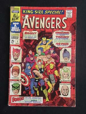 Avengers Annual #1 MARVEL 1967 - new and original Avengers team up - Stan Lee!!
