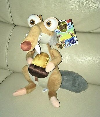 Brand New with tags Ice Age Scrat the Saber-Toothed Squirrel Soft Toy