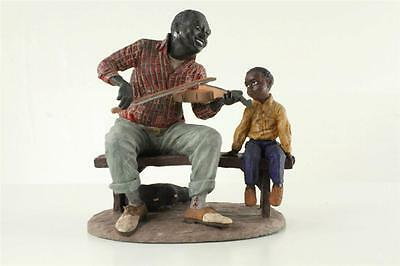 DUNCAN ROYALE Ebony Music Series FIDDLER MAN LE 1173/5000 Black Americana Art