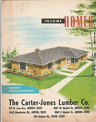 booklet - The Carter-Jones Lumber Co. INCOME HOMES - Akron & Stow, Ohio - 1965